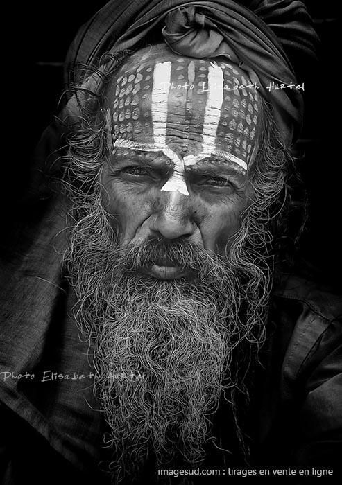 Portrait d'un sadhu, Kathmandou