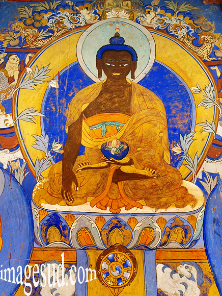 Art bouddhiste, gompa Thiksey, Ladakh