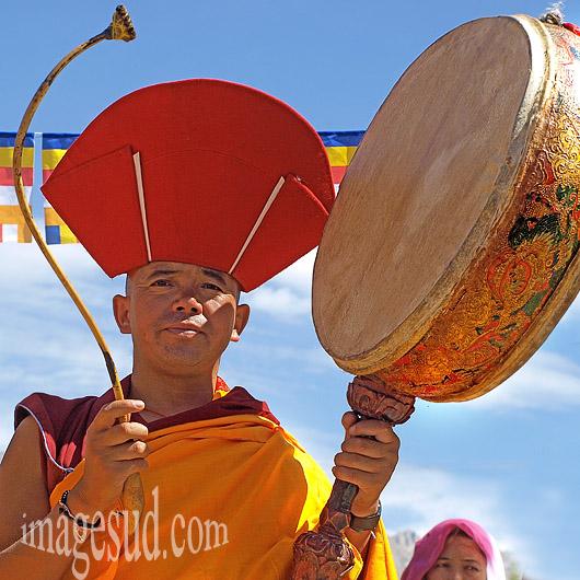 Musique du Bouddhisme, moine musicien