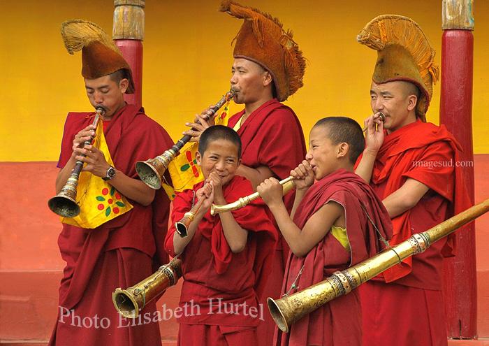 cérémonie bouddhiste au Ladakh