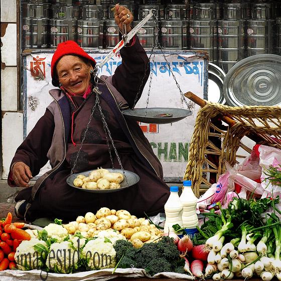 Au marché de Leh, Ladakh