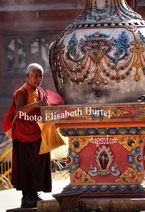 Nepal : Bodhnath stupa, Katmandou, Kathmandu