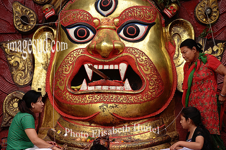 Hindu ceremony, Durbar square / Ceremonie hindouiste / Kathmandu / katmandou