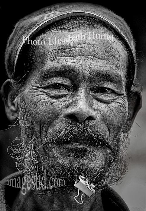 Portrait d'un Nepalais. Nepalese portrait.