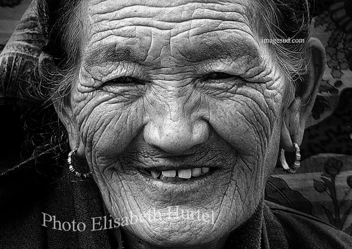 Portrait de femme du Tibet